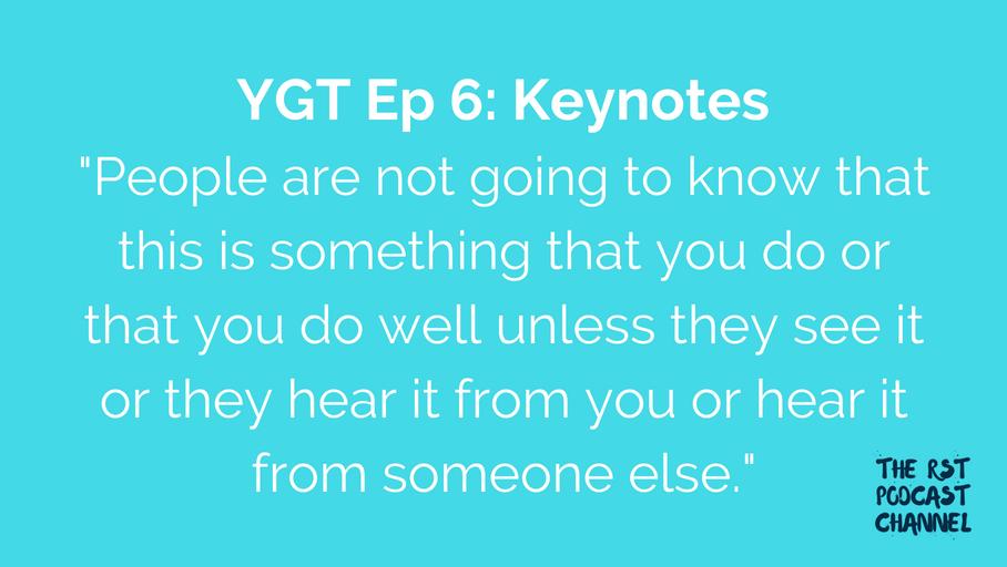 YGT 6: Keynotes