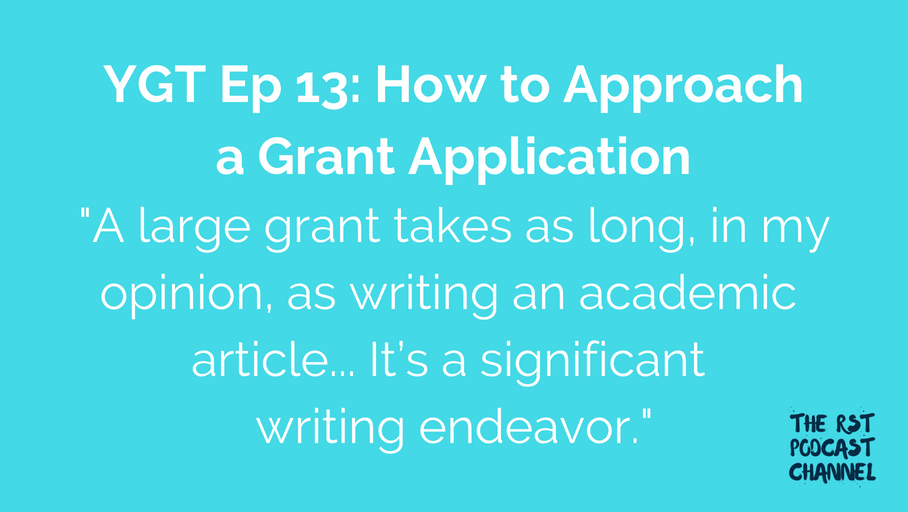 YGT 13: How to Approach a Grant Application
