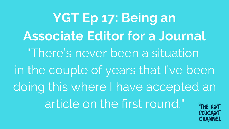 YGT 17: Being an Associate Editor for a Journal
