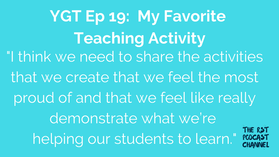 YGT 19: My Favorite Teaching Activity