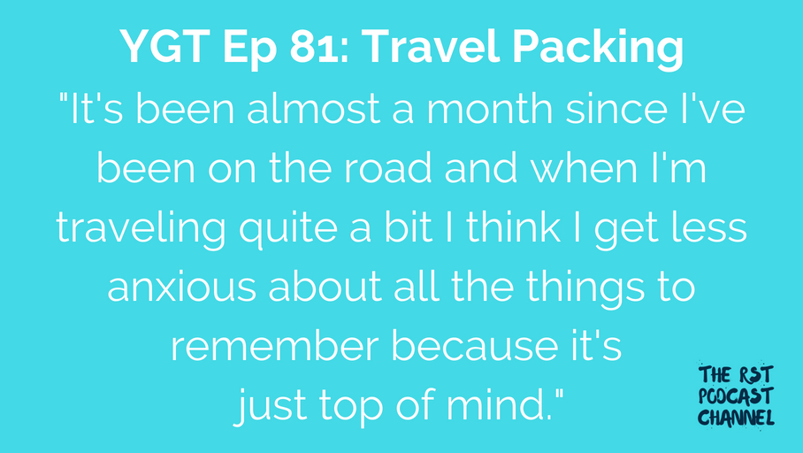 YGT 81: Travel Packing