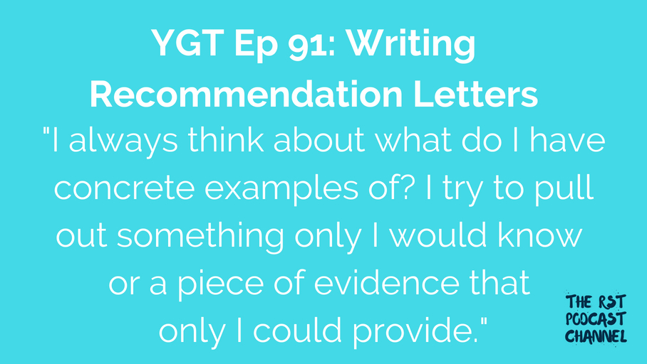 YGT 91: Writing Recommendation Letters