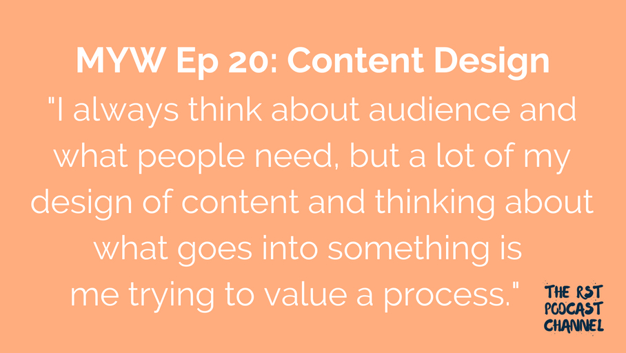 MYW 20: Content Design