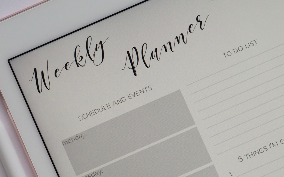 Planning for a Productive Year
