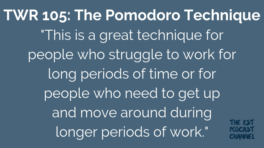 TWR 105: The Pomodoro Technique