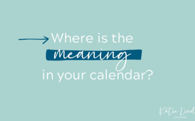 YGT 179: Adding Meaning to Your Calendar